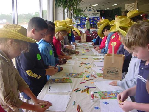 Children participating in Ag-Venture